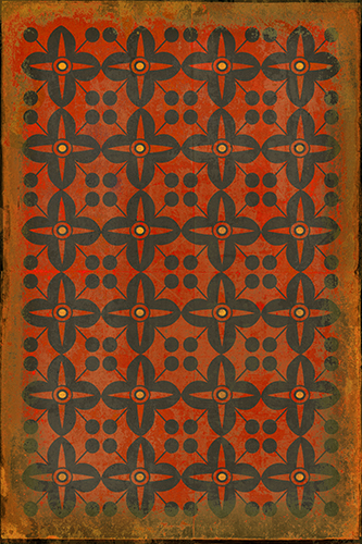 Red Rum Vinyl Floorcloth By Spicher And Company