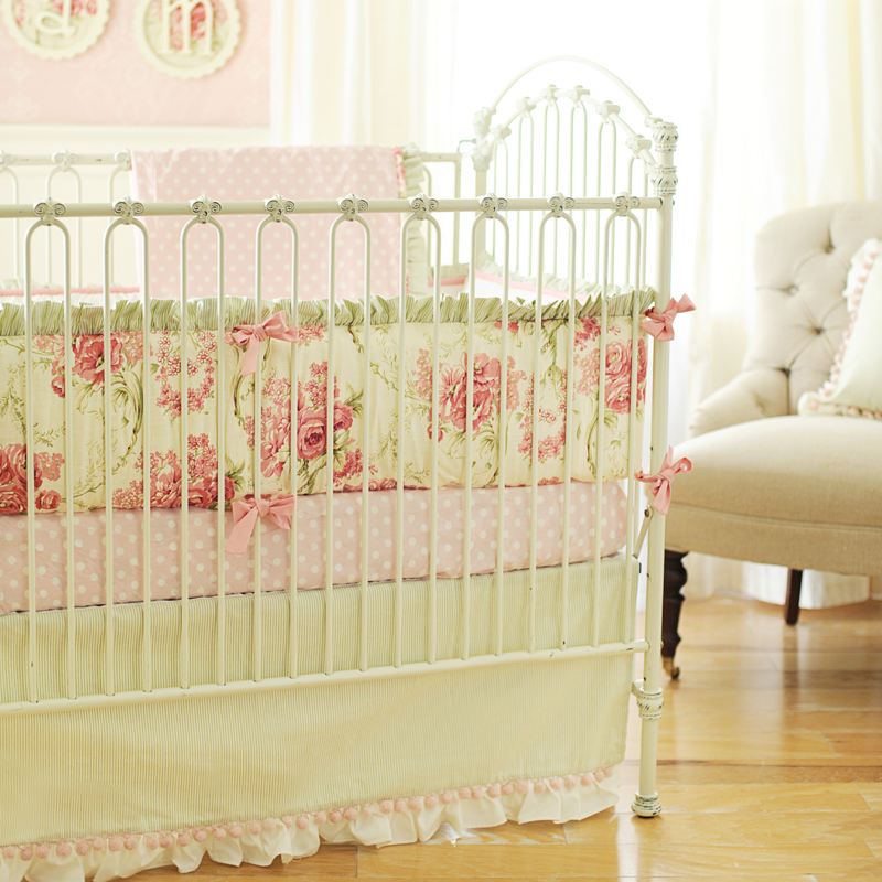 Roses for bella crib bedding set by new arrivals inc Baby girl bedding