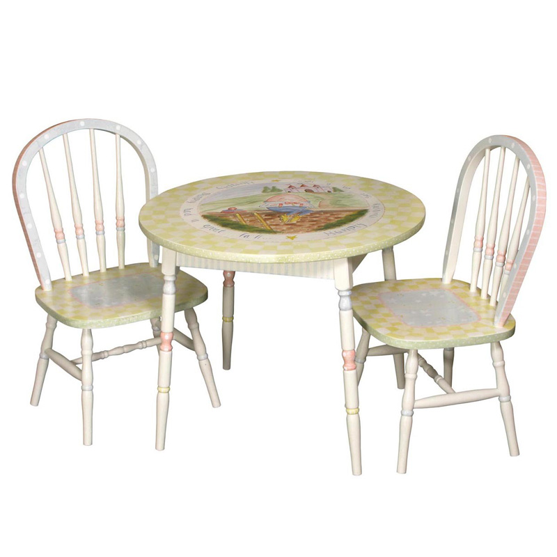 kids round chair round play table and chair set in renaissance with nursery