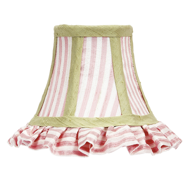 Ruffled Pink & White Stripe with Sage Green Trim ...