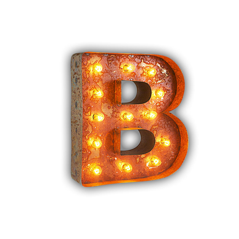 Rusty 12 inch letter b marquee light by vintage marquee lights for B marquee letter