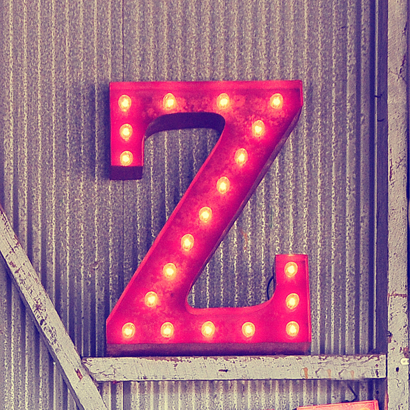 rusty 24 inch letter z marquee light by vintage marquee lights With marquee letter z