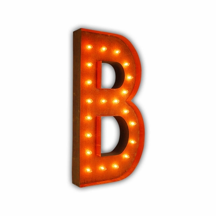 Rusty 36 inch letter b marquee light by vintage marquee lights for B marquee letter