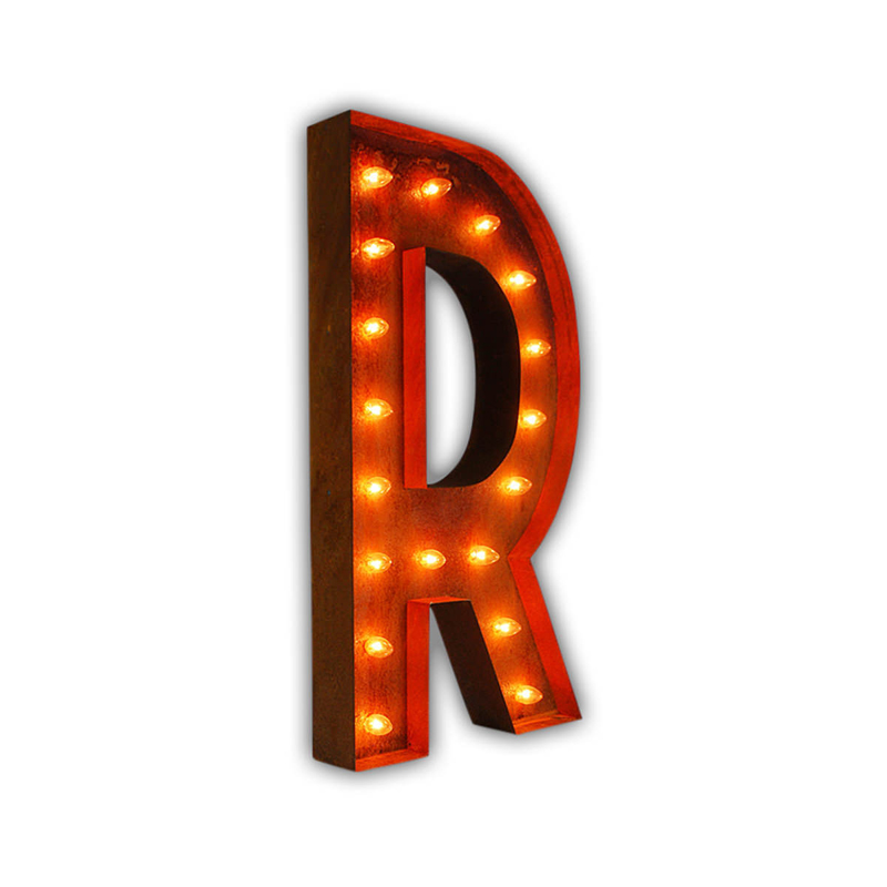 rusty 36 inch letter r marquee light by vintage marquee lights With 36 inch marquee letters