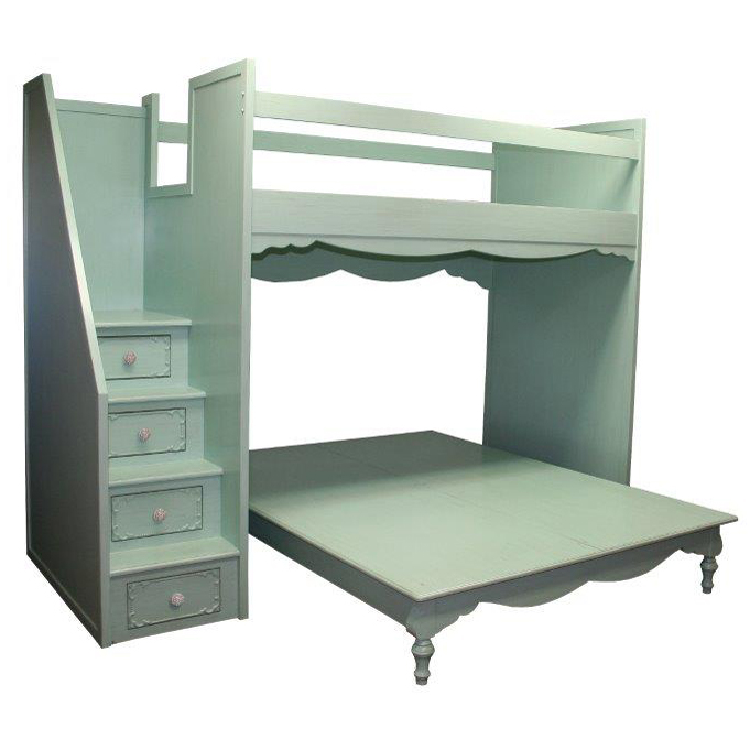 simply elegant fantasy full over queen bunk bed by country cottage. Black Bedroom Furniture Sets. Home Design Ideas