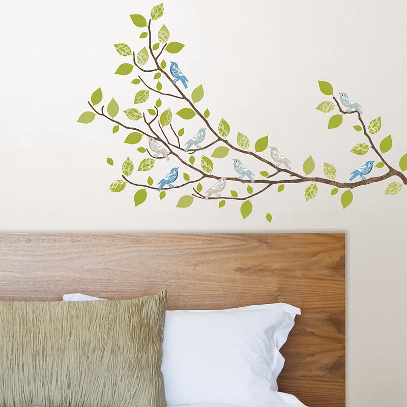 sitting in a tree large peel stick wall decals. Black Bedroom Furniture Sets. Home Design Ideas