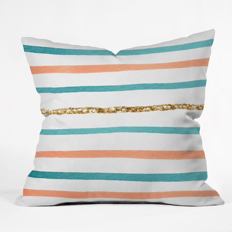 Throw Pillows With Sparkle : Sparkle Stripe Throw Pillow by DENY Designs - RosenberryRooms.com