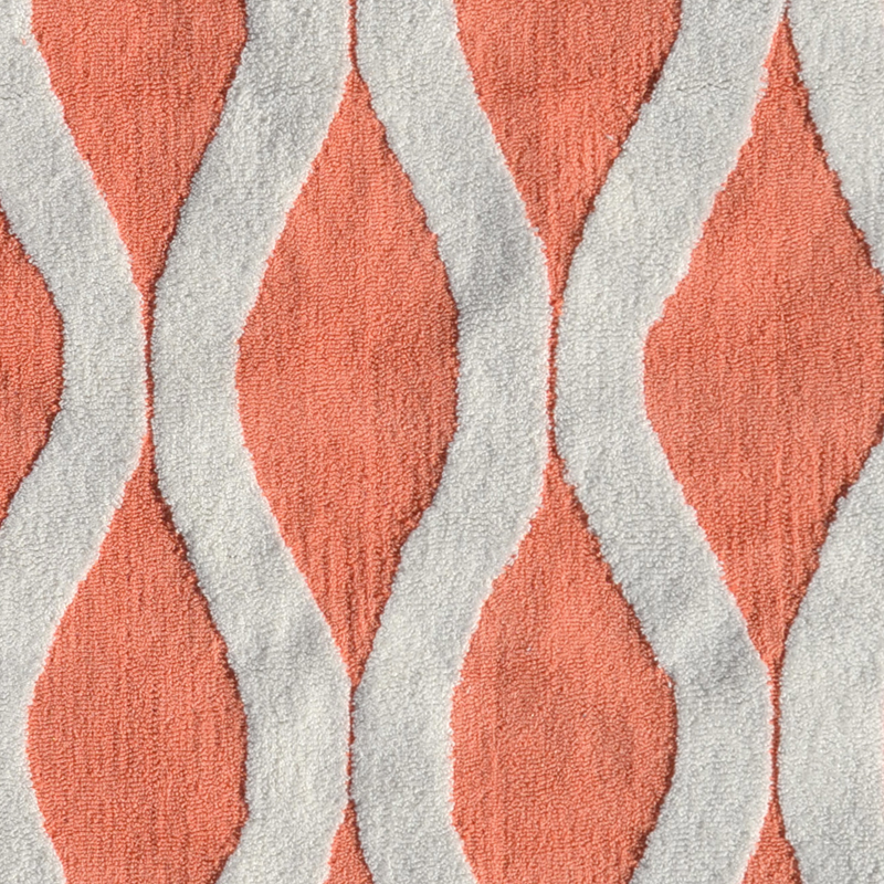Hobo Rugs Squiggle Coral Rug by POP Accents - RosenberryRooms.com