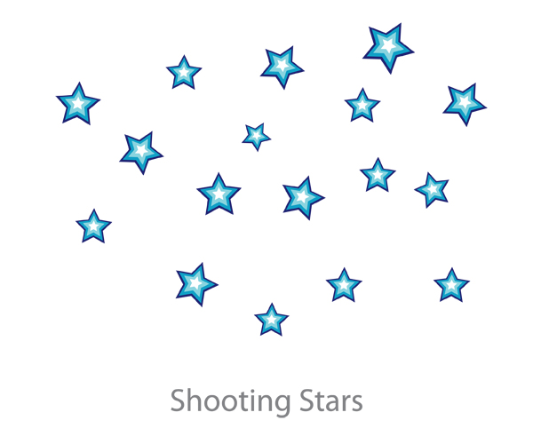 Starry sky fabric wall decals by pop lolli for Starry sky fabric