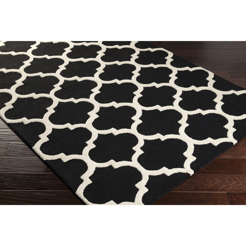 Stella Rug In Black And White By Artistic Weavers