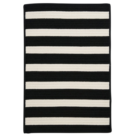 Stripe It Rug In Black And White By Colonial Mills Rugs