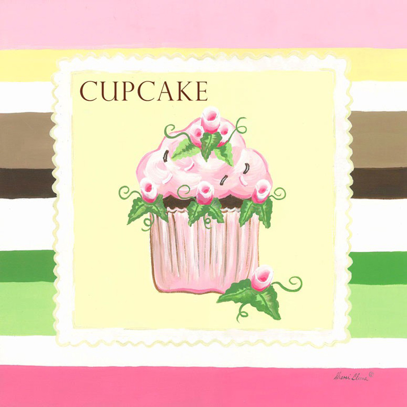 Cupcake Canvas Wall Art - Elitflat