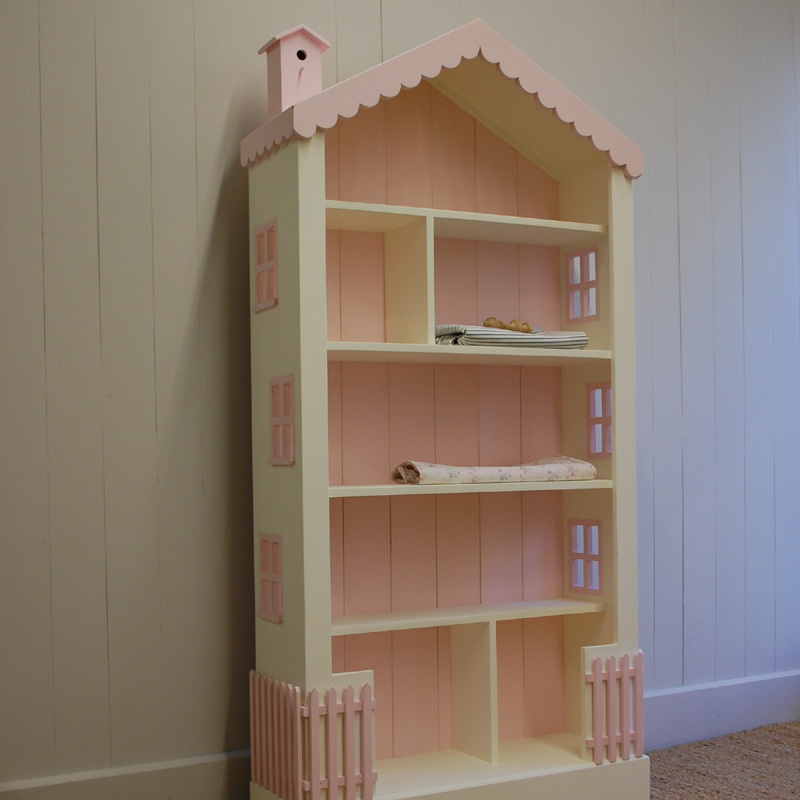 Tall cottage dollhouse bookcase by english farmhouse furniture - Adorable dollhouse bookshelves kids to decorate the room ...