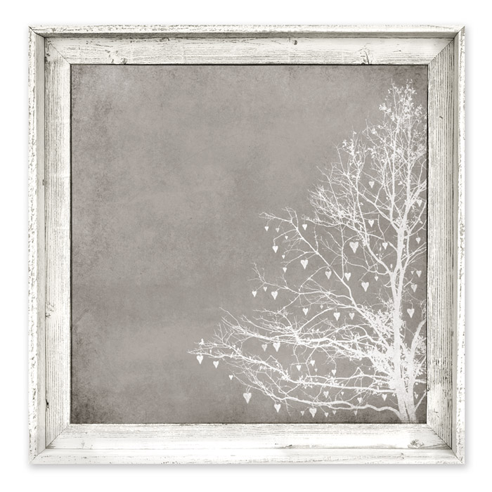 Tree of love taupe framed canvas wall art - Wall taupe ...