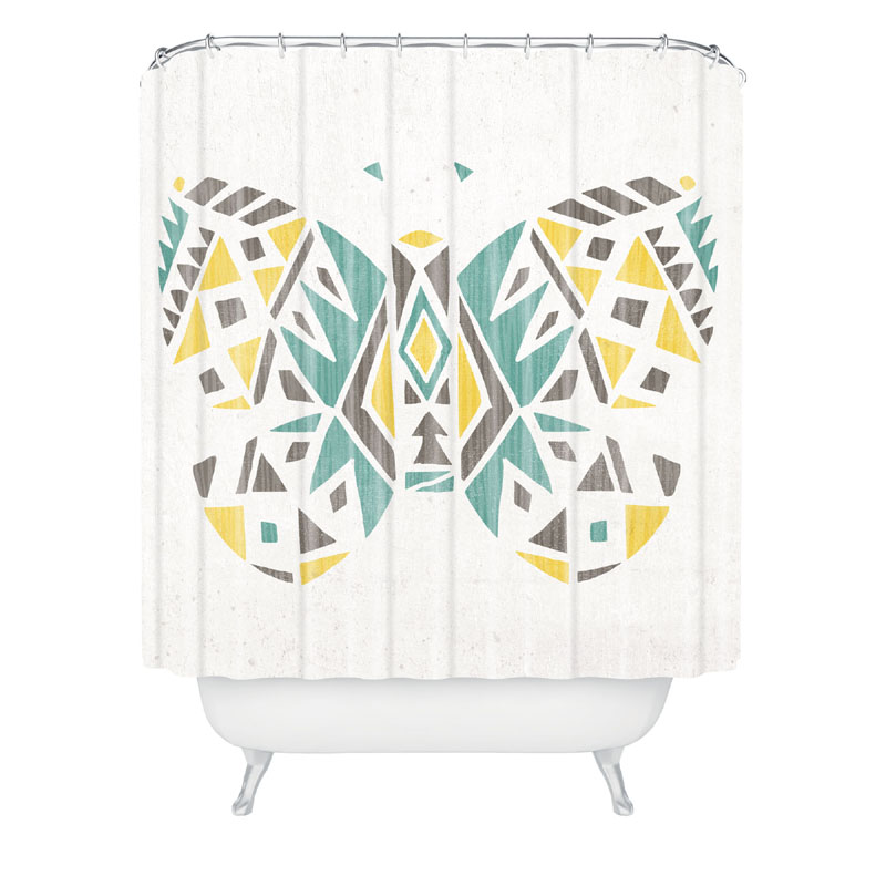 tribal butterfly shower curtain by deny designs
