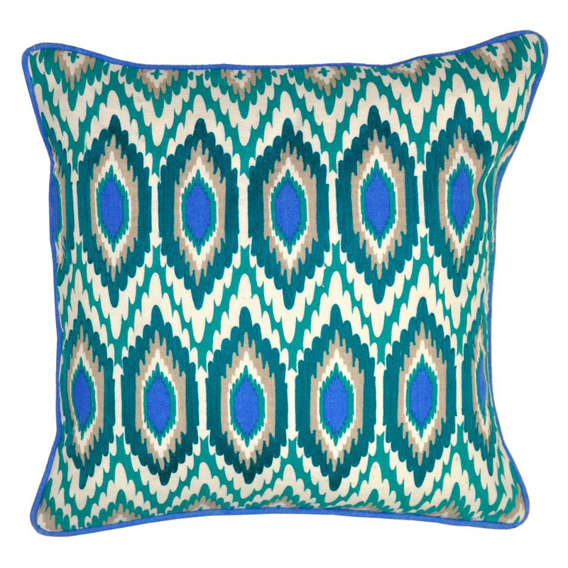 Turquoise yasmin pillow by villa home collection for Villa home collection pillows