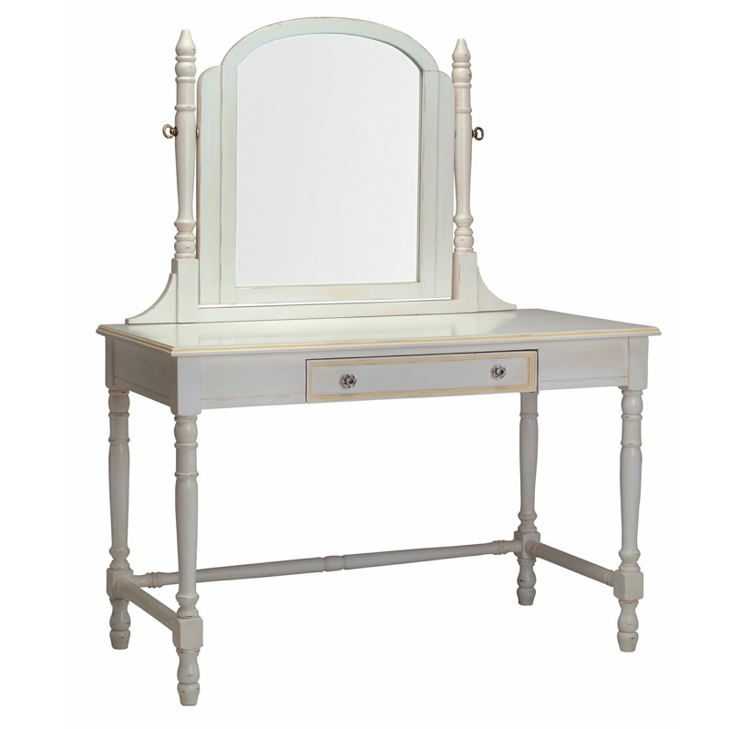 Victorian vanity desk with mirror by newport cottages for Vanity mirror and desk