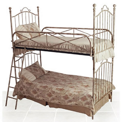 Vintage Iron Twin Bunk Bed By Corsican Iron Furniture