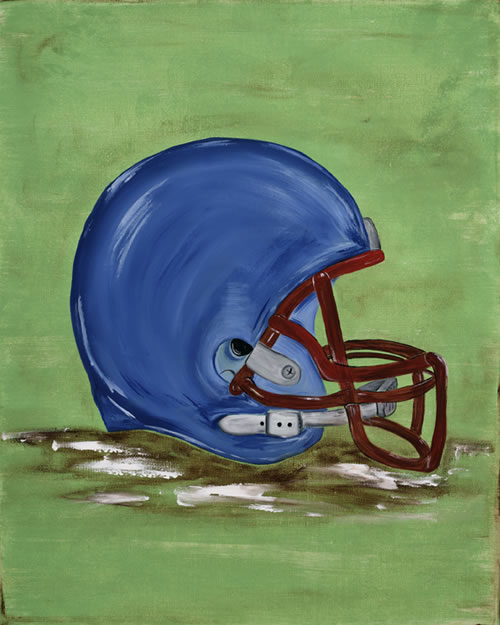 Football Helmet Painting : William s football helmet canvas reproduction