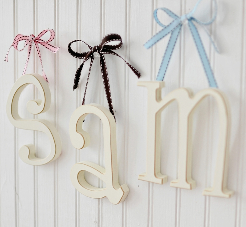 Wooden Hanging Letters by New Arrivals Inc. - RosenberryRooms.com