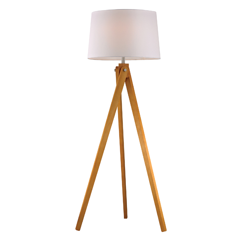 Wooden tripod floor lamp Wood floor lamp