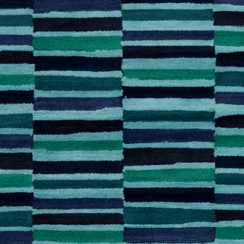 Young life striped rug in navy and teal by surya for Navy and teal rug