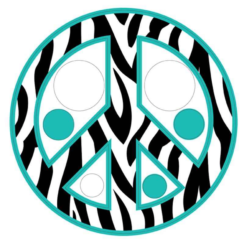 Zebra Peace Sign Coloring Pages Colorful Zebra ...