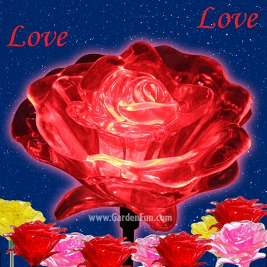 1 Dozen Solar Roses (Red) - Click to enlarge