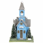 "10"" LED Blue Church w/Battery Operated Timer"