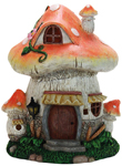 "11"" Solar Mushroom House - Orange"
