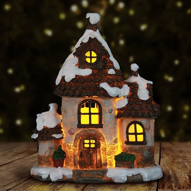 12.5 LED Holiday House with Timer - Click to enlarge