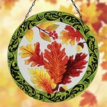 "12"" Glass Leaves Suncatcher"