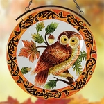 "12"" Glass Owl Suncatcher"