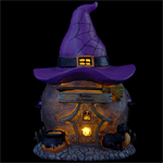 "12"" LED Witch Hat Cottage"