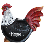 "12"" Solar Rooster LED Marquee Statue"