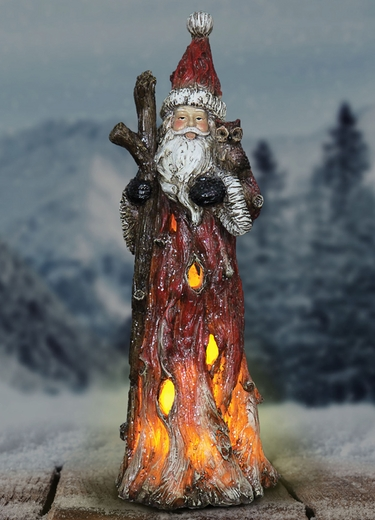 13 Quot Led Woodland Santa Holding Owl Only 26 99 At Garden Fun