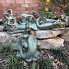 "13"" Mermaid Statues Decor (Set of 3) - Bronze Patina"