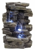 "13"" Rock Falls Tabletop Fountain w/LED Lights"