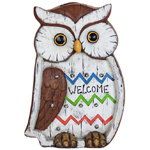 """13"""" Solar Owl LED Marquee Statue"""