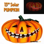 "13"" Solar Pumpkin Yard Decor"