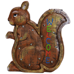 "13"" Solar Squirrel LED Marquee Statue"