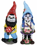 "13"" Sugar Skull Gnomes (Set of 2)"