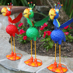 "14"" Geeky Parrots (Set of 4)"