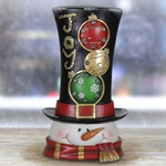 "14"" Snowman Statue w/Multi Color LED & Timer"