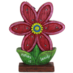 """14"""" Solar Red Flower LED Marquee Statue"""