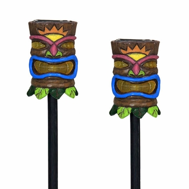 Solar Tiki Stakes (Set of 2) - Click to enlarge