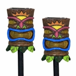 Solar Tiki Stakes (Set of 2)