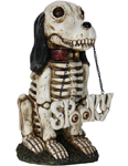 "15"" Spooky Skeleton Dog"