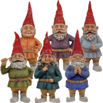 "15"" Toad Hollow Gnomes (Set of 6)"