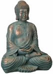 "16"" Buddha Statue - Copper Patina"